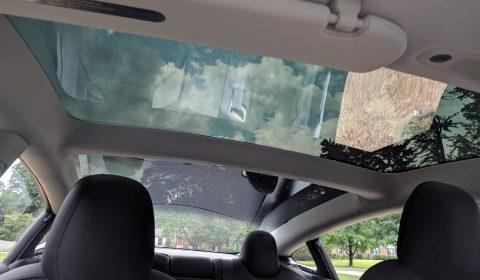 Tesla Model 3 glass roof